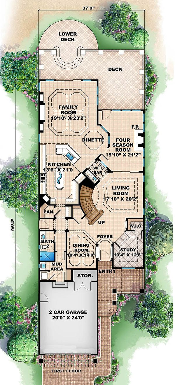 Traditional Floor Plan - Main Floor Plan Plan #27-470