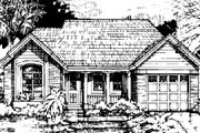 Traditional Style House Plan - 2 Beds 2 Baths 1275 Sq/Ft Plan #50-137 Exterior - Front Elevation