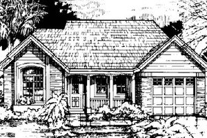 Traditional Exterior - Front Elevation Plan #50-137