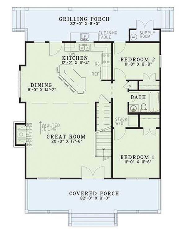 Country Floor Plan - Main Floor Plan #17-2014