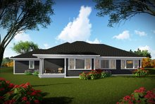 Home Plan - Ranch Exterior - Rear Elevation Plan #70-1462
