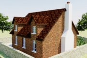 European Style House Plan - 2 Beds 1 Baths 566 Sq/Ft Plan #542-5 Exterior - Rear Elevation