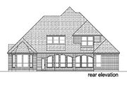 Traditional Style House Plan - 4 Beds 3 Baths 2895 Sq/Ft Plan #84-277 Exterior - Rear Elevation