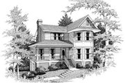 Victorian Style House Plan - 3 Beds 2.5 Baths 2256 Sq/Ft Plan #10-220 Exterior - Front Elevation