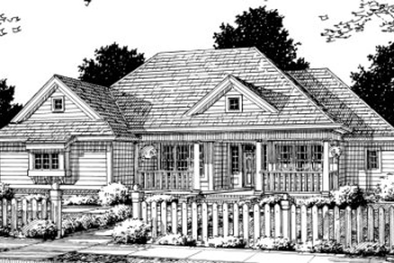 Architectural House Design - Traditional Exterior - Front Elevation Plan #20-343