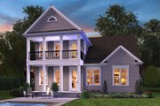 Colonial Style House Plan - 4 Beds 3.5 Baths 2400 Sq/Ft Plan #48-648 Exterior - Rear Elevation