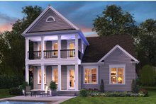 Dream House Plan - Colonial Exterior - Rear Elevation Plan #48-648
