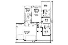 European Floor Plan - Main Floor Plan Plan #20-1528