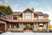 Craftsman Style House Plan - 4 Beds 3.5 Baths 4129 Sq/Ft Plan #928-260 Exterior - Front Elevation