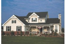 Country Exterior - Front Elevation Plan #20-2019