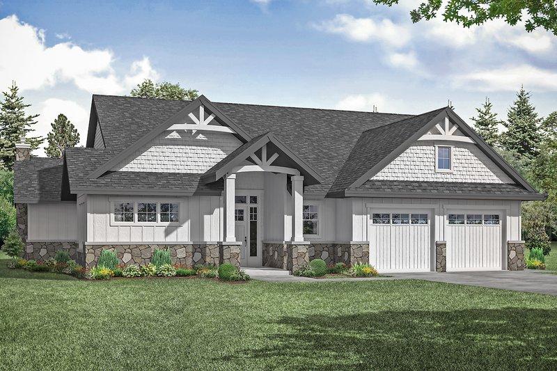 House Plan Design - Craftsman Exterior - Front Elevation Plan #124-1256
