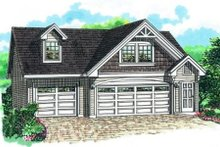 Cottage Exterior - Front Elevation Plan #47-514