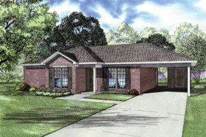 Traditional Exterior - Front Elevation Plan #17-2178
