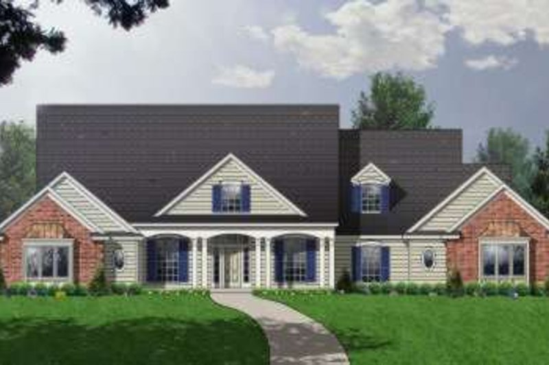 Traditional Exterior - Front Elevation Plan #40-197 - Houseplans.com