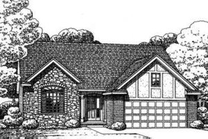 Tudor Exterior - Front Elevation Plan #20-1647
