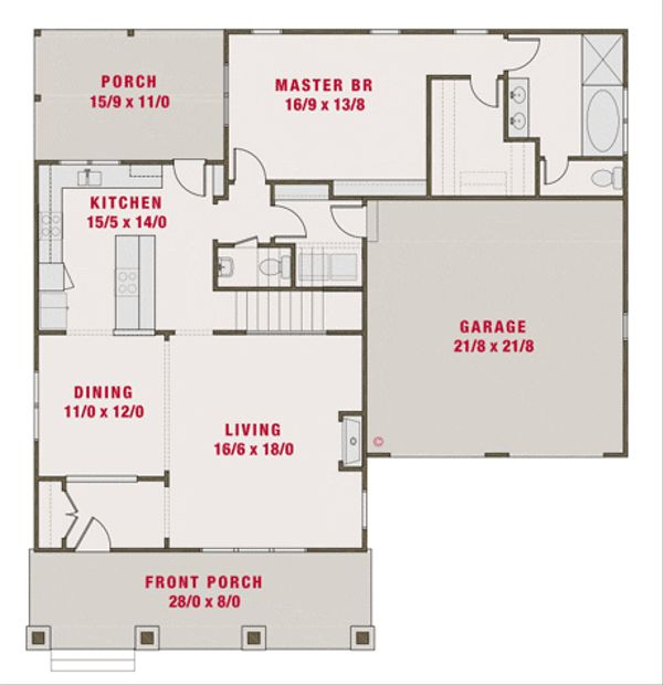 2200 square foot craftsman/bungalow with master downstairs