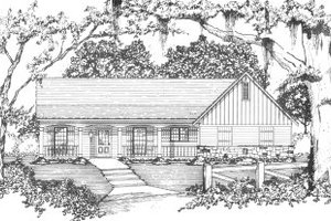 Cottage Exterior - Front Elevation Plan #36-313