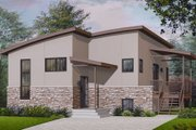 Modern Style House Plan - 3 Beds 2 Baths 1879 Sq/Ft Plan #23-2227 Exterior - Front Elevation