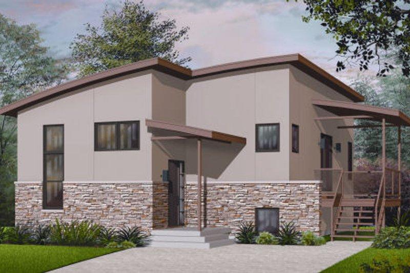 Modern Exterior - Front Elevation Plan #23-2227 - Houseplans.com