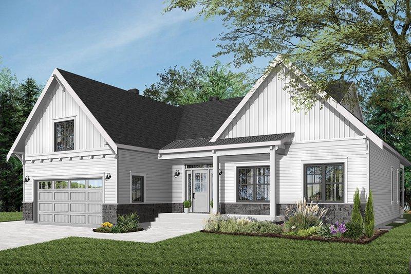 Dream House Plan - Farmhouse Exterior - Front Elevation Plan #23-2679