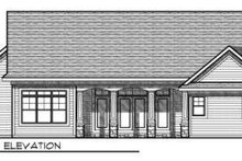 Dream House Plan - Traditional Exterior - Rear Elevation Plan #70-728
