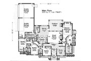European Style House Plan - 4 Beds 3.5 Baths 3003 Sq/Ft Plan #310-1282 Floor Plan - Main Floor Plan