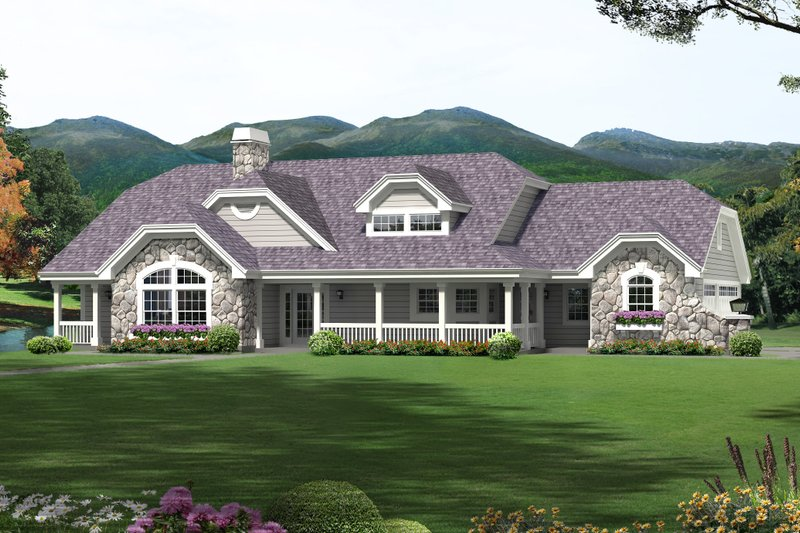 Contemporary Exterior - Front Elevation Plan #57-583 - Houseplans.com