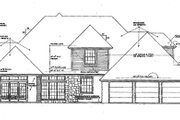 European Style House Plan - 4 Beds 3.5 Baths 3110 Sq/Ft Plan #310-180 Exterior - Rear Elevation