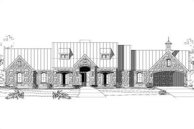 European Style House Plan - 3 Beds 2.5 Baths 3737 Sq/Ft Plan #411-374