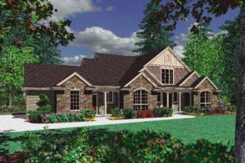 Architectural House Design - Traditional Exterior - Front Elevation Plan #48-158