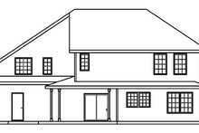 Home Plan - Traditional Exterior - Rear Elevation Plan #124-361