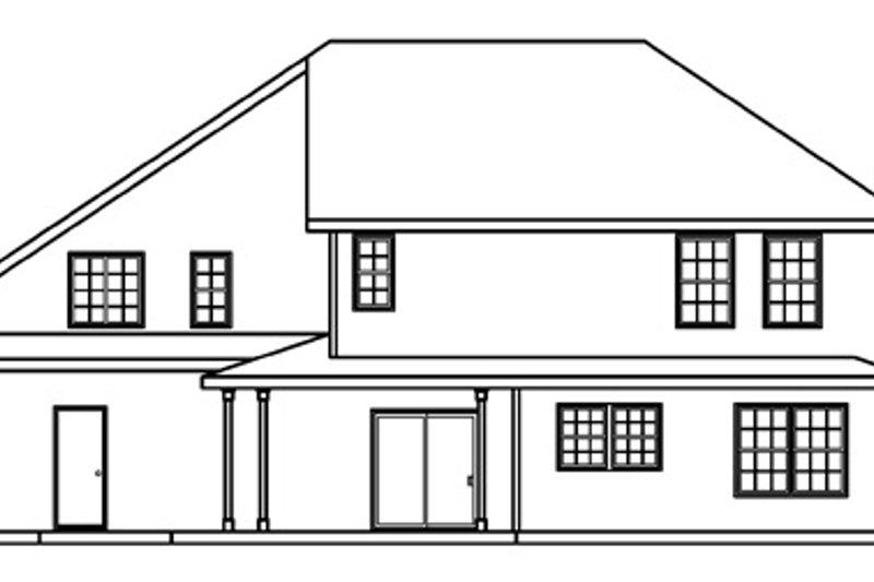 Traditional Exterior - Rear Elevation Plan #124-361 - Houseplans.com
