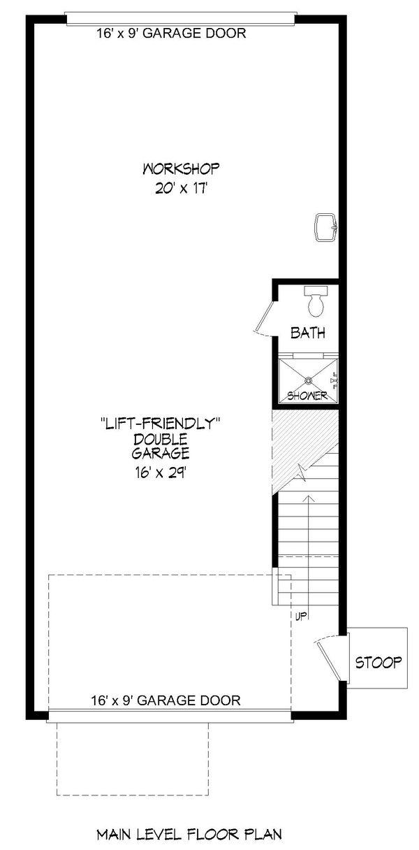 House Plan Design - Craftsman Floor Plan - Lower Floor Plan #932-376
