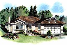 House Blueprint - Ranch Exterior - Front Elevation Plan #18-135