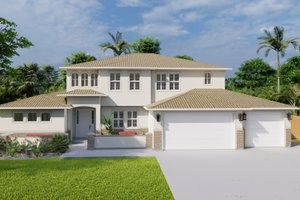 Mediterranean Exterior - Front Elevation Plan #1060-29