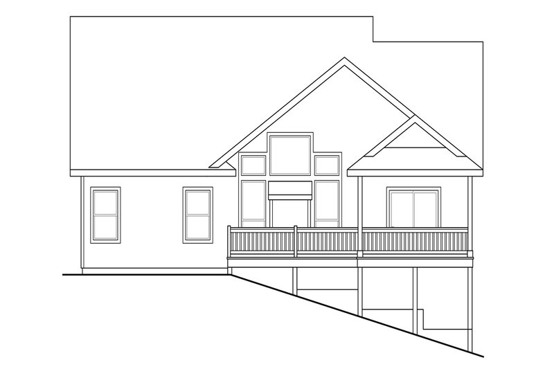 Traditional Exterior - Rear Elevation Plan #124-921 - Houseplans.com
