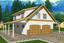 Country Exterior - Front Elevation Plan #117-258
