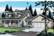 Country Style House Plan - 4 Beds 2.5 Baths 1609 Sq/Ft Plan #312-367 Exterior - Front Elevation