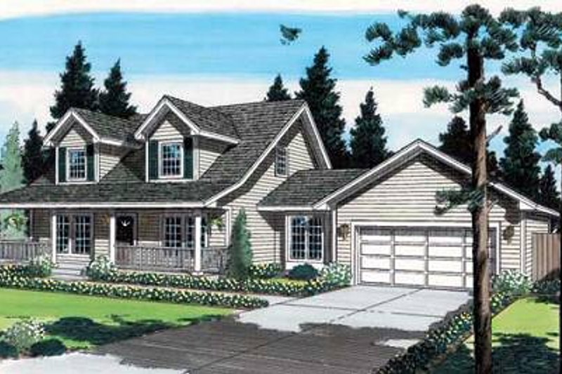 Country Style House Plan - 4 Beds 2.5 Baths 1609 Sq/Ft Plan #312-367