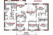 Farmhouse Style House Plan - 4 Beds 2 Baths 2905 Sq/Ft Plan #63-226 Floor Plan - Main Floor Plan