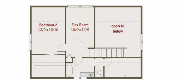 House Plan Design - Craftsman Floor Plan - Upper Floor Plan #461-24