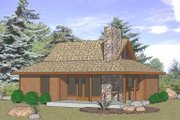 Cabin Style House Plan - 2 Beds 1 Baths 823 Sq/Ft Plan #116-106 Exterior - Front Elevation