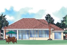Home Plan - Mediterranean Exterior - Rear Elevation Plan #930-25
