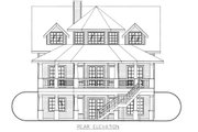 Victorian Style House Plan - 4 Beds 3 Baths 2767 Sq/Ft Plan #117-701 Exterior - Rear Elevation