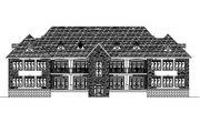 European Style House Plan - 3 Beds 2 Baths 10456 Sq/Ft Plan #138-266 Exterior - Rear Elevation