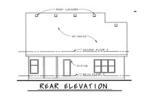 Dream House Plan - Traditional Exterior - Rear Elevation Plan #20-1713