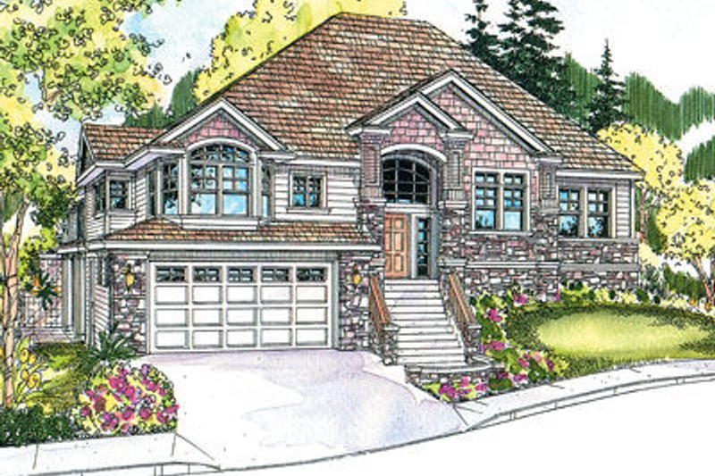 Exterior - Front Elevation Plan #124-625
