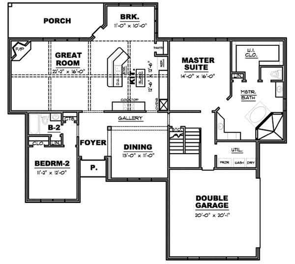 European Floor Plan - Main Floor Plan #34-229