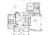 European Style House Plan - 3 Beds 3.5 Baths 2602 Sq/Ft Plan #310-993 Floor Plan - Main Floor Plan