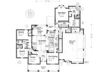 European Floor Plan - Main Floor Plan Plan #310-993